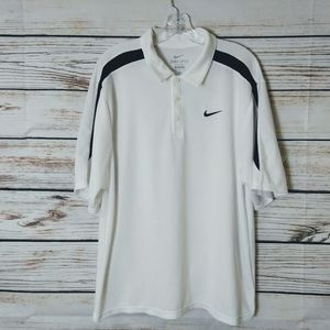 Nike Dri-Fit Textured Polo Shirt Size Large